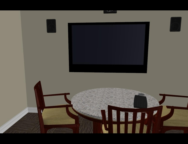 Semi Private Presentation Area 3D Interior Design Software