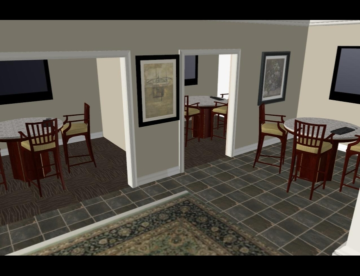 3D View Of Presentation Rooms Interior Design Software