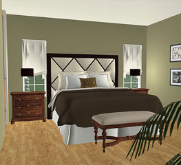 Bedroom 3D Design 3dream - online 3d room planner for interior design & space