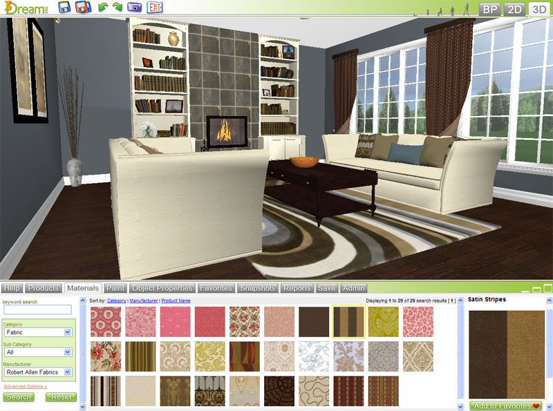 Free 3d room planner 3dream basic account details Software for interior design free