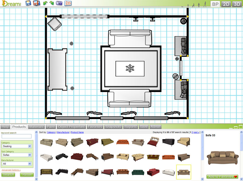 Free 3d room planner 3dream basic account details Online room planner